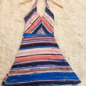 I 🖤 Ronson Halter Top Striped Dress